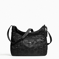 COACH F77369 - GETAWAY PACKABLE CROSSBODY SILVER/BLACK/BLACK