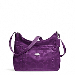 COACH F77369 - GETAWAY SIGNATURE PACKABLE CROSSBODY SILVER/AMETHYST