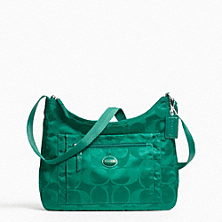 COACH F77369 - GETAWAY PACKABLE CROSSBODY SILVER/BRIGHT JADE