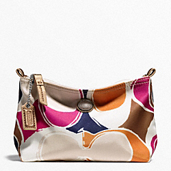 COACH F77421 - GETAWAY HAND DRAWN SCARF PRINT MINI COSMETIC POUCH ONE-COLOR