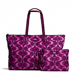 GETAWAY DREAM C LARGE PACKABLE WEEKENDER - f77454 - SILVER/BERRY MULTICOLOR