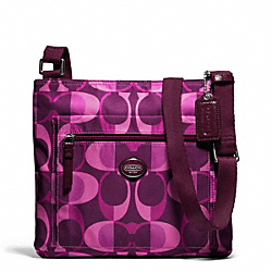 COACH F77472 Getaway Dream C File Bag SILVER/BERRY MULTICOLOR