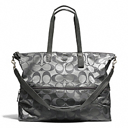COACH F77497 Signature Nylon Expandable Tote