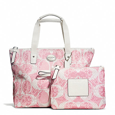 COACH f77500 GETAWAY SNAKE C PRINT SMALL TOTE