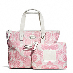 COACH F77500 - GETAWAY SNAKE C PRINT SMALL TOTE ONE-COLOR