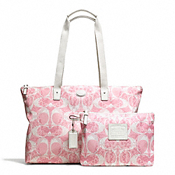 COACH F77509 - GETAWAY SNAKE C PRINT PACKABLE WEEKENDER ONE-COLOR