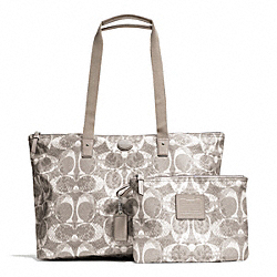 COACH F77509 Getaway Snake C Print Packable Weekender