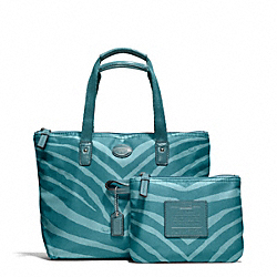 COACH F77534 - GETAWAY ZEBRA PRINT SMALL TOTE ONE-COLOR