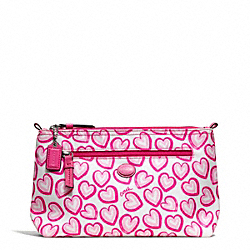 COACH F77537 - GETAWAY HEART PRINT COSMETIC POUCH ONE-COLOR