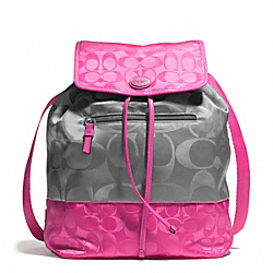COACH F77559 - SIGNATURE NYLON COLORBLOCK BACKPACK ONE-COLOR