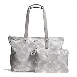 COACH F77571 Dream C Weekender SILVER/LIGHT GREY