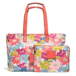 COACH F77572 - GETAWAY FLORAL PRINT WEEKENDER ONE-COLOR