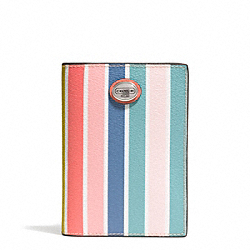 COACH F77584 Peyton Multistripe Passport Case