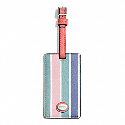 COACH F77585 Peyton Multistripe Luggage Tag