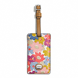 COACH F77586 Peyton Floral Luggage Tag