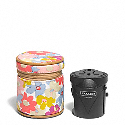 COACH F77588 Peyton Floral Travel Adaptor