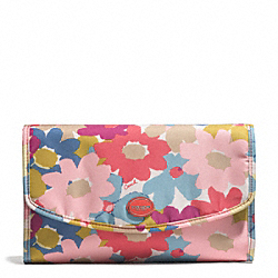 COACH F77596 Getaway Floral Print Cosmetic Kit