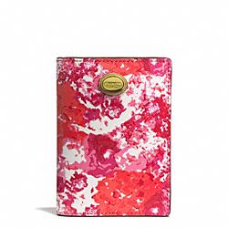 COACH F77615 Peyton Floral Print Passport Case