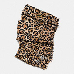 COACH F77669 - WILD BEAST PRINT SHAWL NEUTRAL