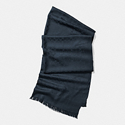 COACH F77672 Signature C Stole NAVY
