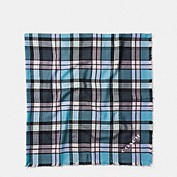 COACH F77768 Plaid Oversized Square ATLANTIC MULTI