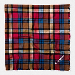 COACH F77768 - PLAID OVERSIZED SQUARE RED/MULTI