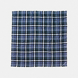 COACH F77768 - PLAID OVERSIZED SQUARE MARINA