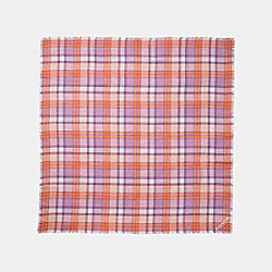 COACH F77768 Plaid Oversized Square CORAL/MAUVE