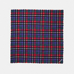 PLAID OVERSIZED SQUARE - f77768 - TRUE RED/PURPLE