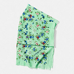 COACH F77803 Floral Oblong Scarf SEAGLASS