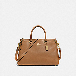 MIA SATCHEL - F77884 - IM/LIGHT SADDLE