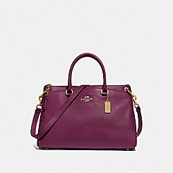 MIA SATCHEL - F77884 - IM/DARK BERRY