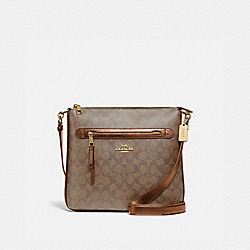 COACH F77885 - MAE FILE CROSSBODY IN SIGNATURE CANVAS IM/KHAKI/SADDLE 2