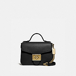 CASSIDY TOP HANDLE CROSSBODY - F77897 - IM/BLACK