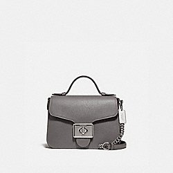 CASSIDY TOP HANDLE CROSSBODY - F77897SVHGR - SV/HEATHER GREY