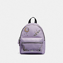 COACH F77899 - MINI CHARLIE BACKPACK WITH CHELSEA ANIMATION LILAC MULTI/SILVER