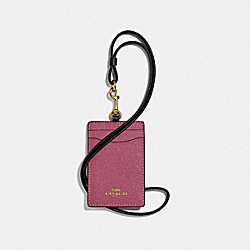 COACH F77903 - ID LANYARD IN COLORBLOCK ROUGE MULTI/GOLD