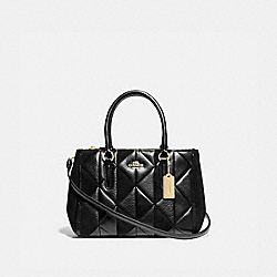 COACH F77908IMBLK - MINI SURREY CARRYALL WITH PATCHWORK IM/BLACK