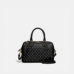 MINI BENNETT SATCHEL WITH RIVETS - F77913 - BLACK/IMITATION GOLD