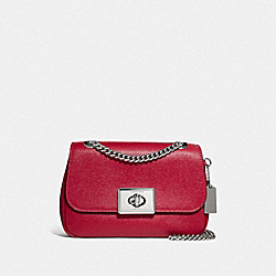 MINI CASSIDY CROSSBODY - F77974SVP4Z - SV/BRIGHT CARDINAL