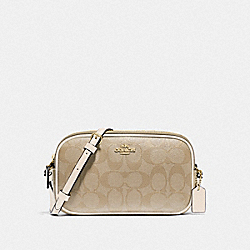 COACH F77996 Crossbody Pouch In Signature Canvas IM/LIGHT KHAKI/CHALK