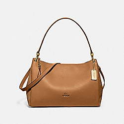 MIA SHOULDER BAG - F77999 - LIGHT SADDLE/GOLD