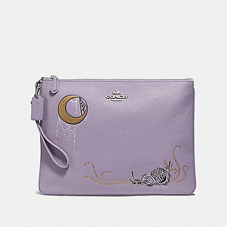 COACH F78048 LARGE WRISTLET 30 WITH CHELSEA ANIMATION LILAC MULTI/SILVER
