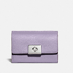 COACH F78107 Cassidy Turnlock Medium Wallet SV/LILAC