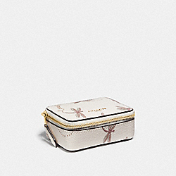 COACH F78142 Triple Pill Box With Dragonfly Print IM/CHALK MULTI