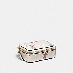 COACH F78142 - TRIPLE PILL BOX WITH DRAGONFLY PRINT IM/CHALK MULTI