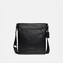 GRAHAM FLAT CROSSBODY - F78147 - BLACK/BLACK ANTIQUE NICKEL