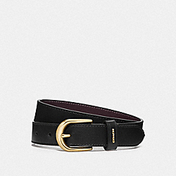 COACH F78180 Classic Belt BLACK/OXBLOOD/GOLD