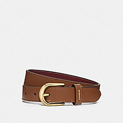 CLASSIC BELT - F78180 - SADDLE/WINE/GOLD