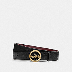 HORSE AND CARRIAGE BELT - F78181 - BLACK/WINE
